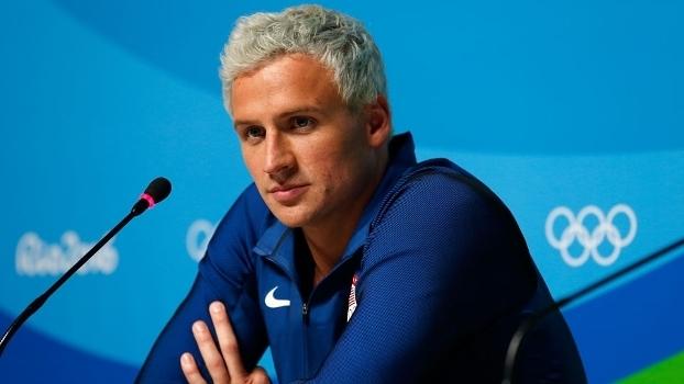 Ryan Lochte, durante entrevista coletiva no Rio de Janeiro