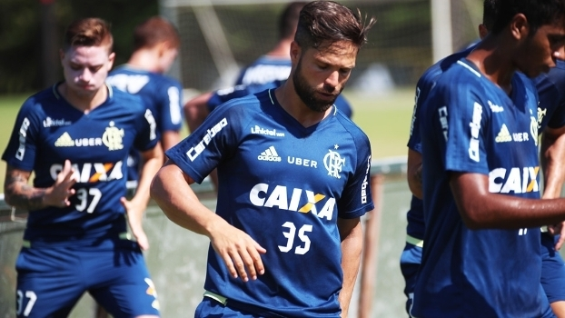 Diego Treino Flamengo 18/02/2017