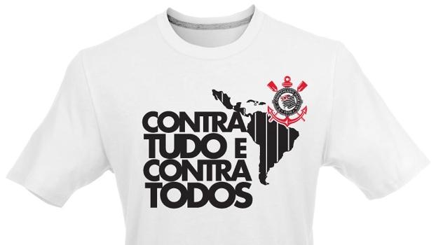 Fornecedora lança camisa comemorativa para Corinthians   Contra tudo e contra  todos  - ESPN e01346c597643