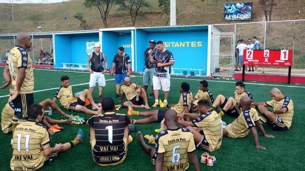 Treino do time da Vai-Vai na Portuguesa da Vila Mariana, em São Paulo
