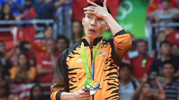 Lee Chong Wei ficou com a prata olímpica pela terceira vez seguida