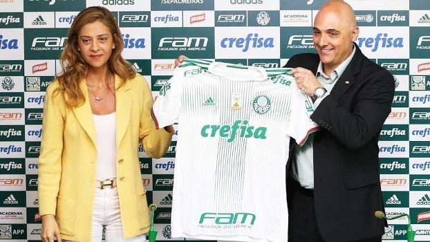 Mauricio Galiotte e Leila Pereira: Palmeiras e Crefisa ampliaram contrato em 2017