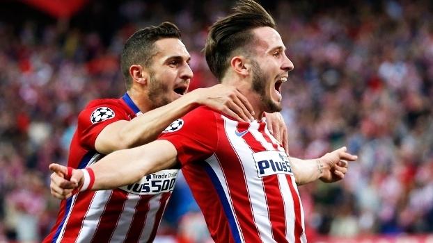 Saul Comemora Gol Atletico de Madri Bayern Champions 28/04/2016