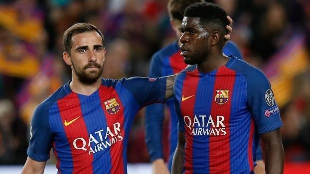 Paco Alcácer e Samuel Umtiti, duas das contratações do Barcelona para 2016/2017