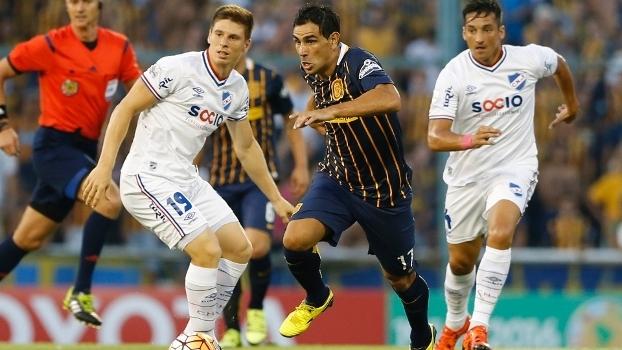 Herrera em Rosário Central 1 x 1 Nacional  duelo entre os dois mais fortes  rivais 3f205417dfde4