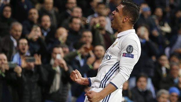 Casemiro marcou o último gol da vitória do Real Madrid