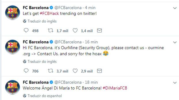 'Piratas informáticos' anunciam Di María no Barcelona