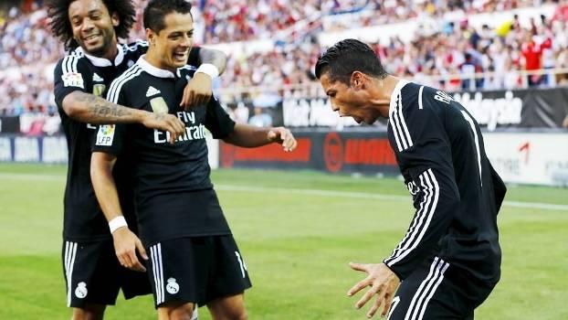Cristiano Ronaldo Comemora Gol Real Madrid Sevilla Campeonato Espanhol 02/05/2015
