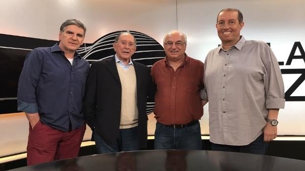 João Carlos Albuquerque, José Silverio, Luís Carlos Quartarollo e Edu Affonso na gravação do programa