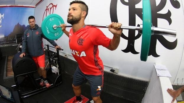 Diego Treino Flamengo 28/07/2016