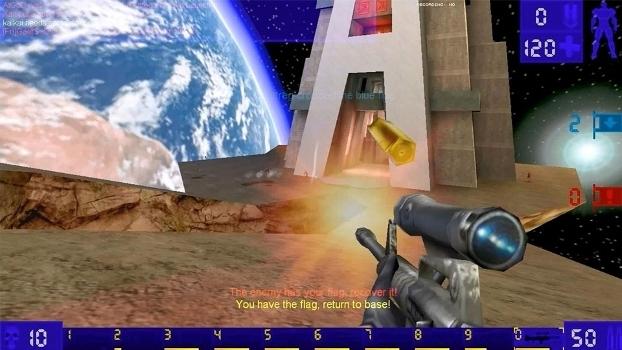 Screenshot de Unreal Tournament e um de seus mais famosos mapas