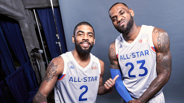 Kyrie Irving e LeBron James, os maiores nomes do Leste