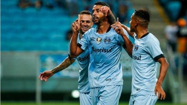 Michel marcou seu primeiro gol com a camisa do Grêmio