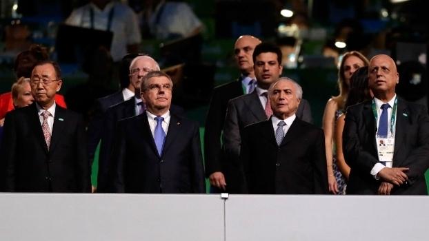 Presidente Michel Temer não foi anunciado na cerimônia de abertura, como era previsto no protocolo oficial