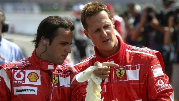 Massa e Schumacher na época de Ferrari