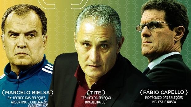 Tite, Bielsa e Capello participarão da 2ª Semana de Evolução do Futebol Brasileiro