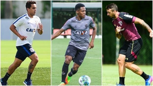 Jadson, do Corinthians, Elias, do Atlético-MG, e Pratto, do São Paulo