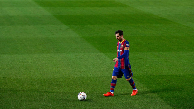Lionel Messi durante partida do Barcelona