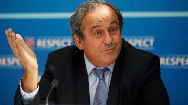 Michel Platini, presidente da Uefa e candidato a mandatário da Fifa