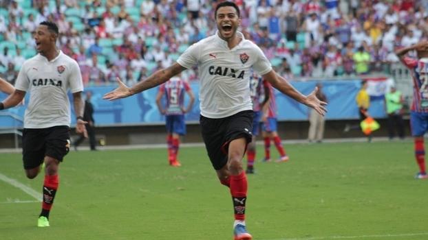 Cleiton Xavier marcou o primeiro gol do clássico na Arena Fonte Nova a4c0d64aa6d5b
