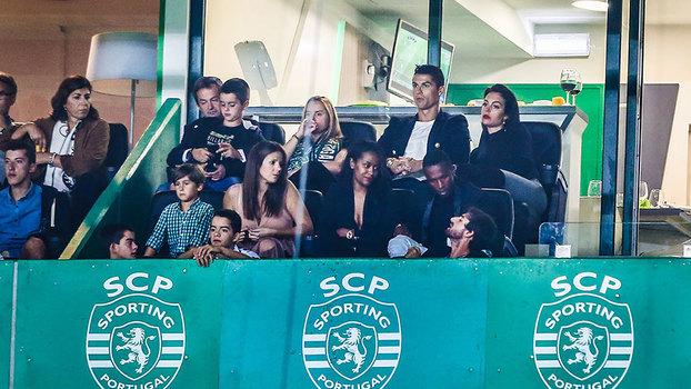 Cristiano Ronaldo e Georgina Rodríguez em clima de paixão em Alvalade