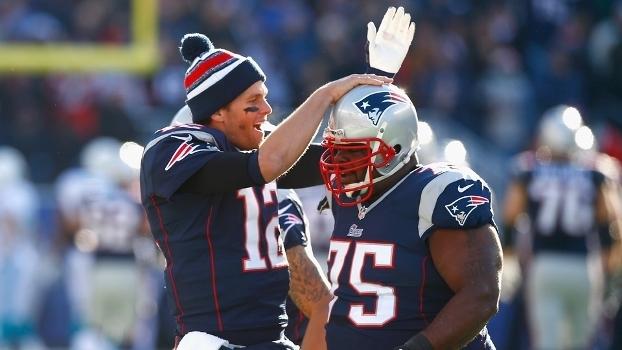 Tom Brady e Vince Wilfork conquistaram dois Super Bowls juntos nos Patriots