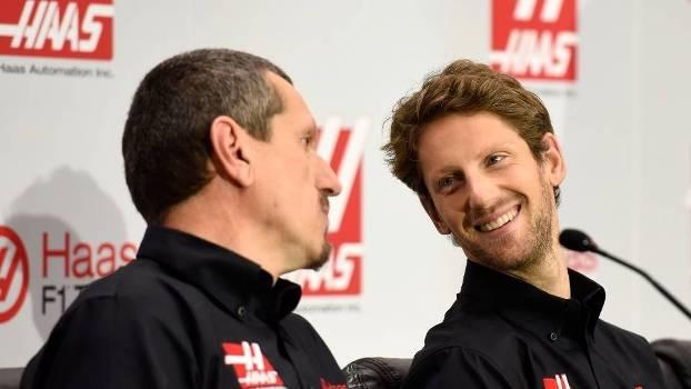 Romain Grosjean haas 2015 f1