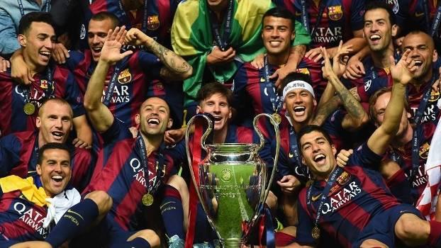 Barcelona faz a festa após conquistar a Champions League