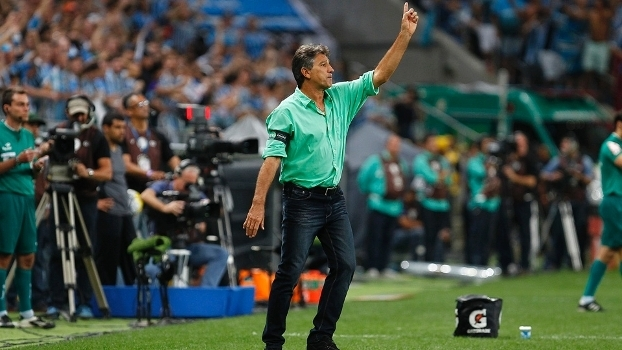 Renato Gaúcho durante a segunda partida da decisão da Copa do Brasil