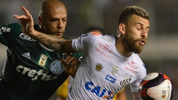 Lucas Lima recebe marcação de Felipe Melo