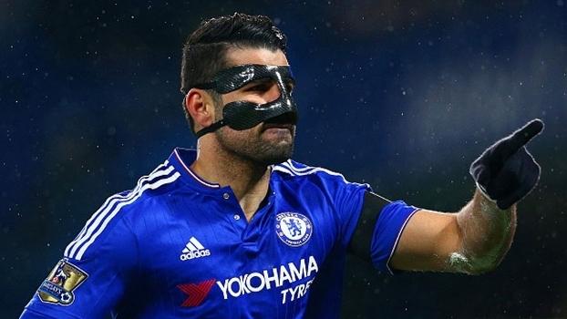 Diego Costa comemora gol pelo Chelsea contra o Newcastle
