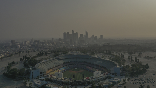 Vista aéra do Dodger Stadium