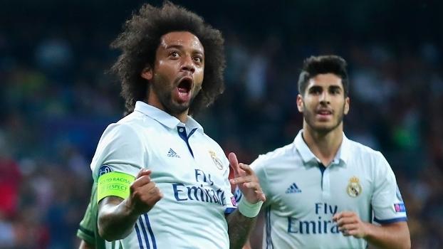 Marcelo jogou bem e fez o chute que resultou no segundo gol merengue