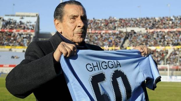 Alcides Ghiggia Homenagem Estadio Centenario Uruguai 14/06/2008