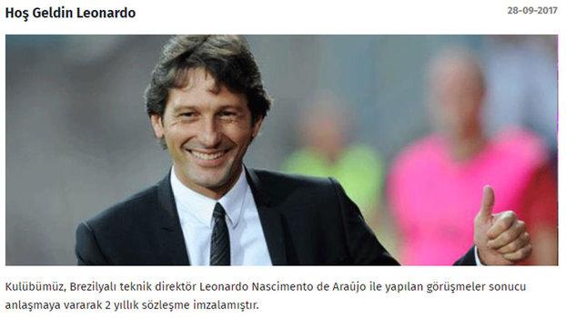 Leonardo é anunciado como novo técnico do Antalyaspor, da Turquia