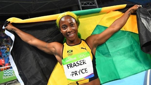 Shelly-Ann Fraser-Pryce foi campeã dos 100m em 2008 e 2012
