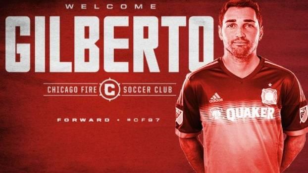 Gilberto foi anunciado no site do Chicago Fire