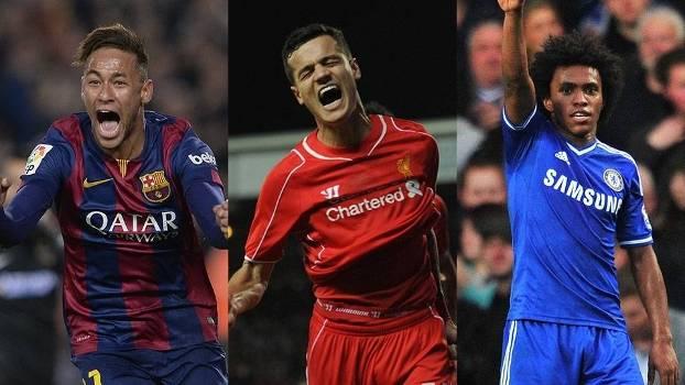 Neymar, Coutinho e Willian: quem merece levar o Prêmio Futebol no Mundo?