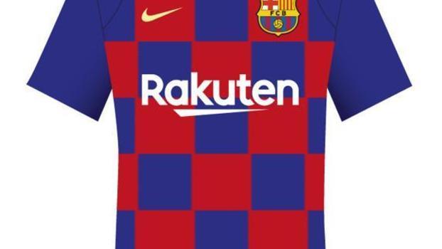 Jornal diz que Barcelona terá camisa quadriculada à lá Croácia  veja como  seria  8385803f48778