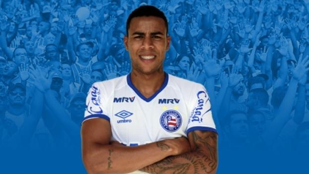 Gustagol com a camisa do Bahia; ele jogará no clube até o final do ano