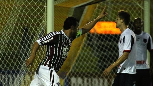 Fred marcou duas vezes na goleada do Fluminense