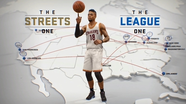 Seja na rua ou na quadra, você deve desenvolver seu jogador no modo 'The One'.
