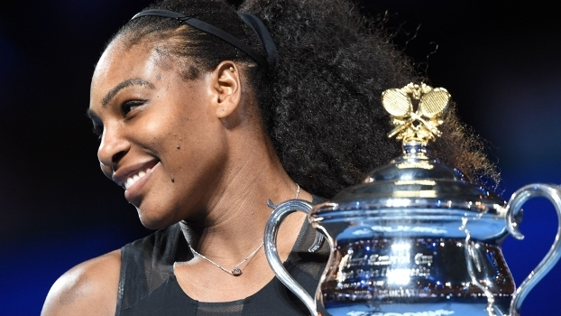 Serena Williams Posa Trofeu Australian Open 28/01/2017