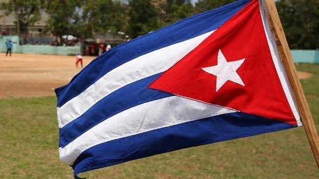 Bandeira de Cuba em Havana, capital do país
