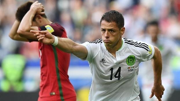 Chicharito fez o gol mexicano