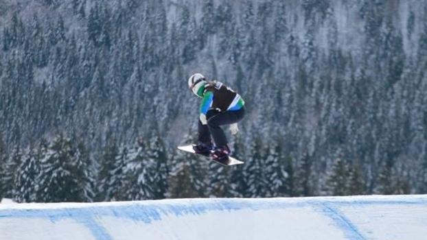 Isabel Clark conseguiu um nono lugar no snowboard cross em 2006