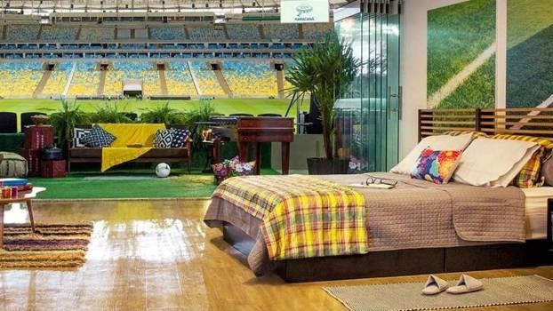Camarote do Maracanã foi transformado em um quarto completo