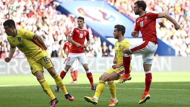Mehmedi Suíça Romênia Futebol Eurocopa 15/06/2016