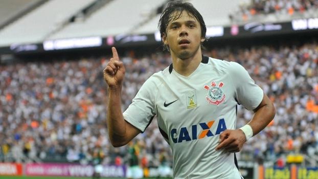 Romero comemora 16º gol na Arena Corinthians