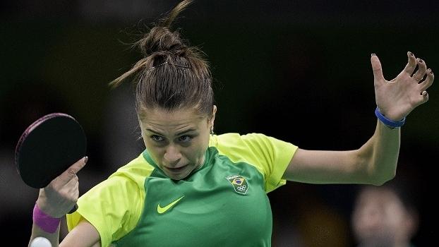 Bruna Takahashi foi uma das brasileiras na equipe do tênis de mesa